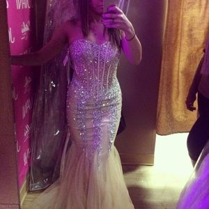 Champagne Jovani Prom Dress